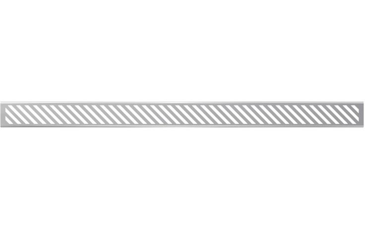 CONCEPT rošt pro liniový podlahový žlab 850mm, šikmý, nerez