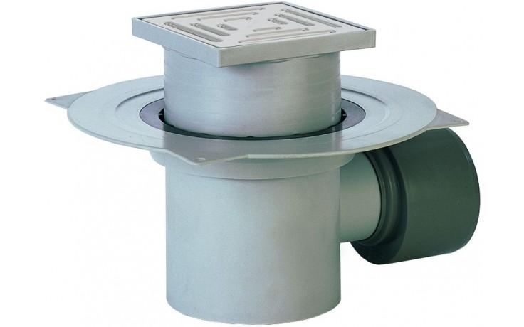 HL vpust DN75/110 podlahová s vodorovným odtokem, polypropylen