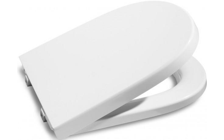 ROCA MERIDIAN klozetové sedátko s poklopem, s nerezovými úchyty, odnímatelné, s antibakteriální úpravou, Slowclose, bílá