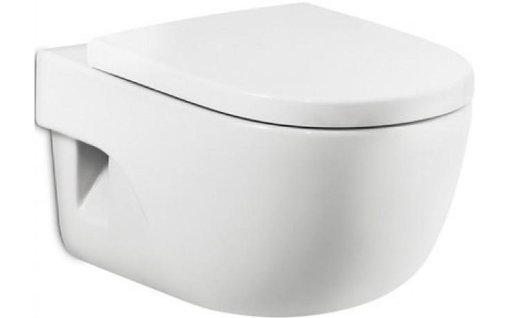 ROCA MERIDIAN COMPACT závěsný klozet 360x480mm hluboké splachování, vodorovný odpad, bílá MaxiClean 734624800M