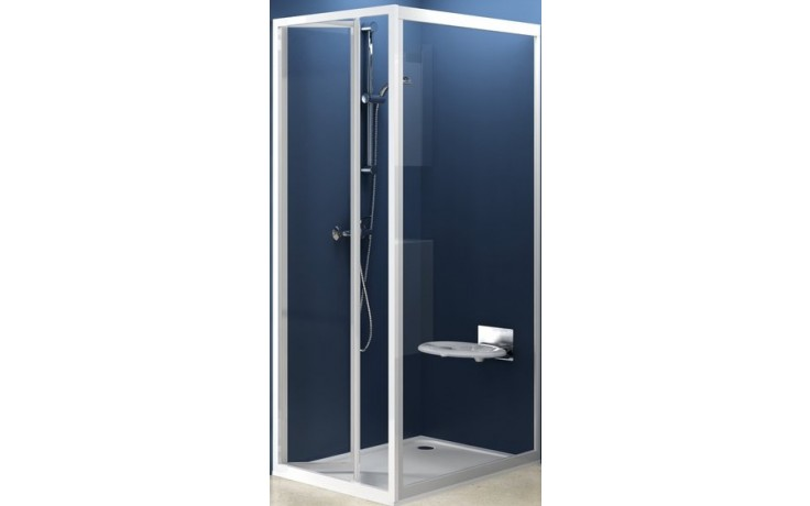 Zástěna sprchová dveře Ravak sklo PSS-pevná stěna 75 bílá/transparent