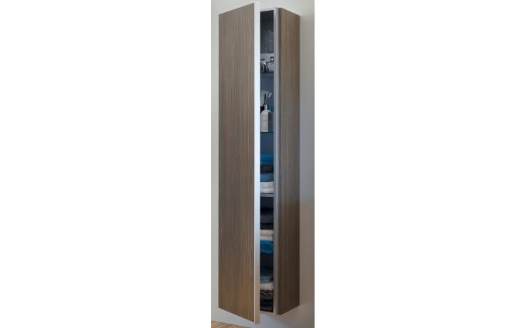 DURAVIT DARLING NEW vysoká skříňka 400x340mm závěsná Pine Silver/terra DN1274L3114
