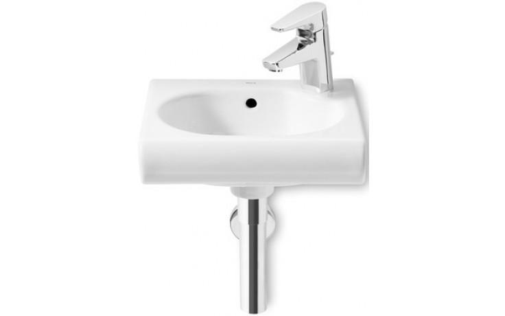 Umývátko klasické Roca s otvorem Meridian s instal. sadou, otvor vpravo 45 cm bílá