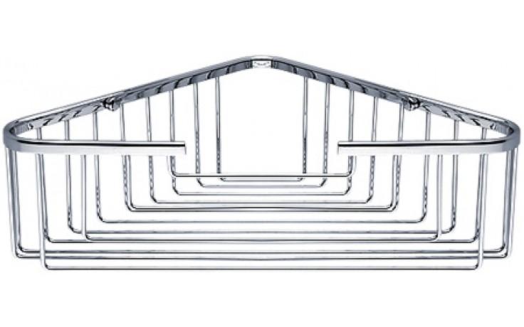 Doplněk polička Nimco Open rohová, drátěná 26,5x10 cm chrom