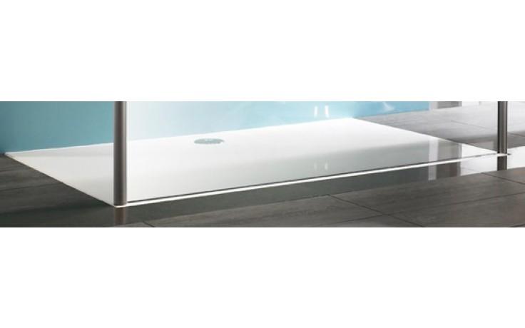 Vanička litý mramor Huppe obdélník Easy Step 160x100cm bílá