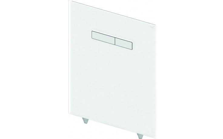 TECE LUX horní deska 430x555mm, s manuálními ovládacími tlačítky, sklo/bílá