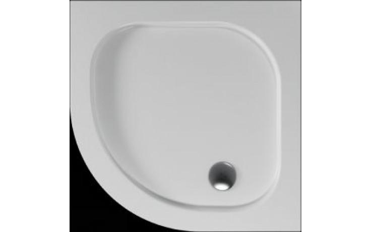 Vanička plastová Teiko čtvrtkruh - 90x90x3,5cm bílá