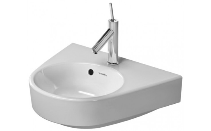 DURAVIT STARCK 2 umývátko 500x390mm s přetokem, bílá/wonder gliss 07145000001