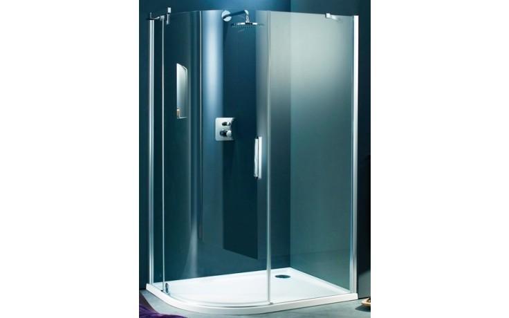 Zástěna sprchová čtvrtkruh Huppe sklo Refresh pure 1000x900x1943mm stříbrná matná/čiré