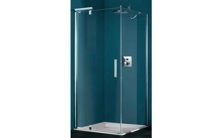 Zástěna sprchová dveře Huppe sklo Refresh Pure Akce 900x2043mm stříbrná lesklá/Sand Plus AP