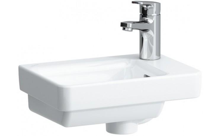 LAUFEN PRO S umývátko asymetrické 360x250mm s otvorem, bílá LCC
