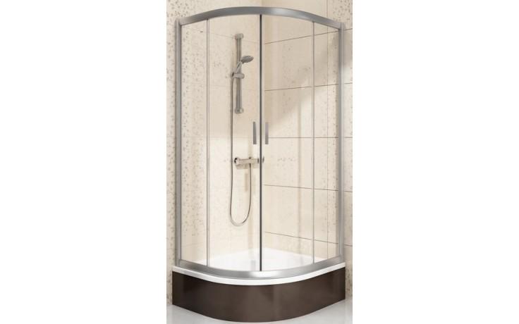 Zástěna sprchová čtvrtkruh Ravak sklo Blix BLCP4-90 Sabina 900x900x1750 mm satin/transparent