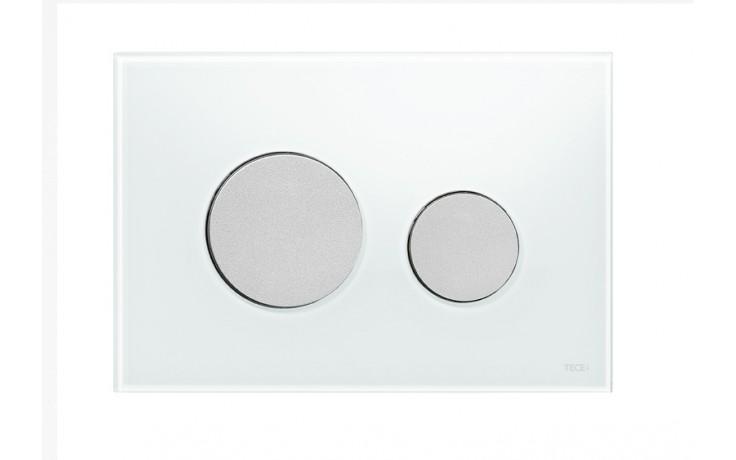 Předstěnové systémy ovládací desky TECE TECEloop  sklo bílé/matný chrom