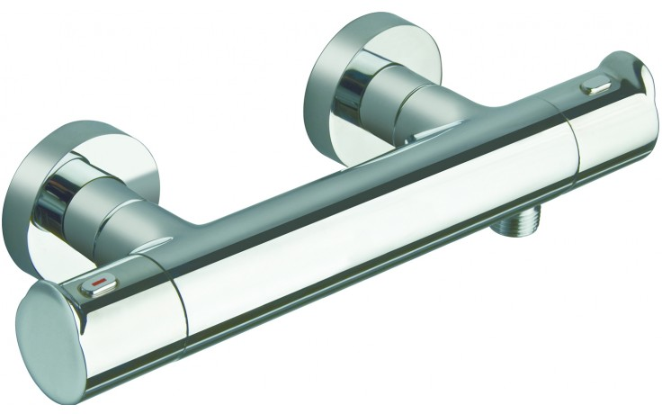 Baterie sprchová Cristina nástěnná termostatická New Day 150 mm chrom