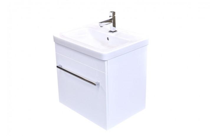 Nábytek skříňka s umyvadlem Eden Rubín závěsná 61,6x54x46,5 cm bílá lesklá/bílá lesklá