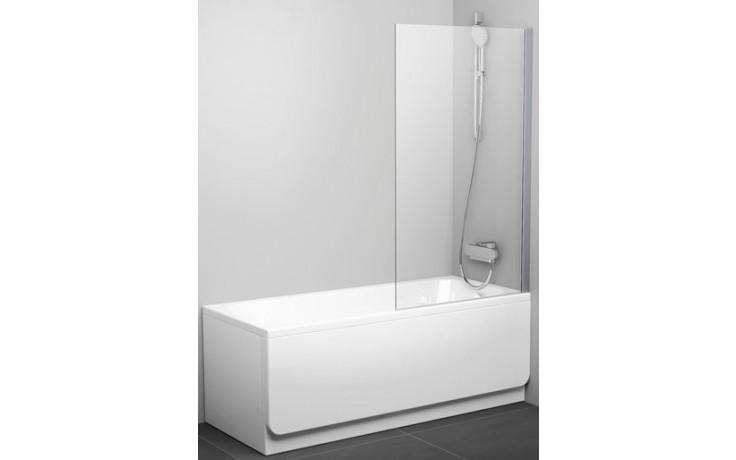 RAVAK PVS1 80 vanová zástěna 800x1400mm jednodílná, pevná bílá/transparent 79840100Z1