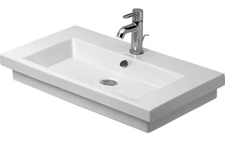 Umyvadlo zápustné Duravit s otvorem 2nd floor 70x46 cm bílá