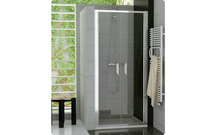 Zástěna sprchová dveře Ronal sklo Top-Line TOPP2 0800 01 07 800x1900mmm matný elox/čiré AQ