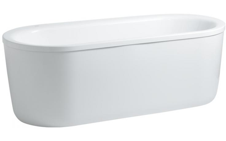 Vana plastová Laufen - Solutions samostatně stojící s hliníkovou konstrukcí 180x80 cm bílá