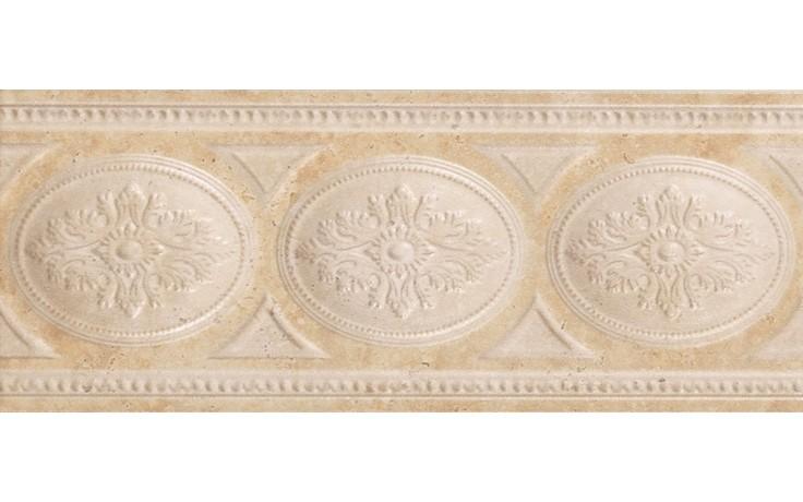 Listela - cenefa Roma 10x25cm béžová
