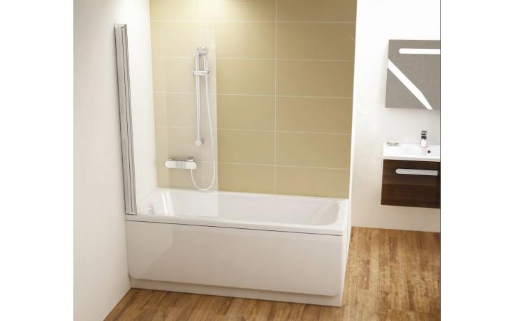 CONCEPT 100 vanová zástěna 800x1500mm jednodílná, levá bílá/transparent