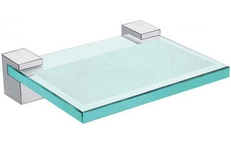 JIKA CUBITO držák se skleněnou mýdlenkou 120x100x30mm chrom/transparentní sklo 3.833C.1.004.000.1
