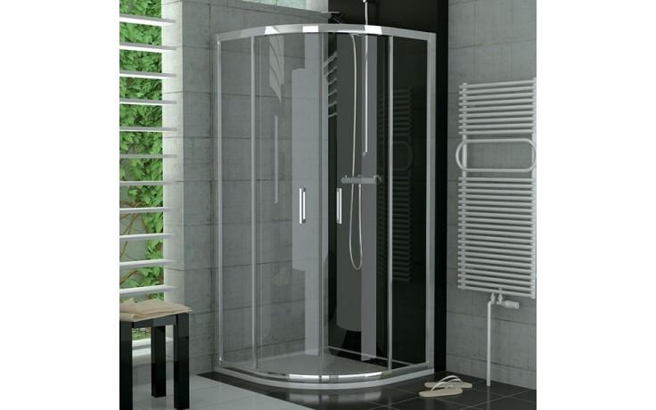SANSWISS TOP LINE TOPR sprchový kout 900x900x1900mm s dvoudílnými posuvnými dveřmi, čtvrtkruh, aluchrom/čiré sklo Aquaperle