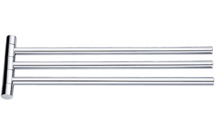 Doplněk držák ručníku Nimco Bormo otočný, trojitý 42x13,9x2,2 cm chrom
