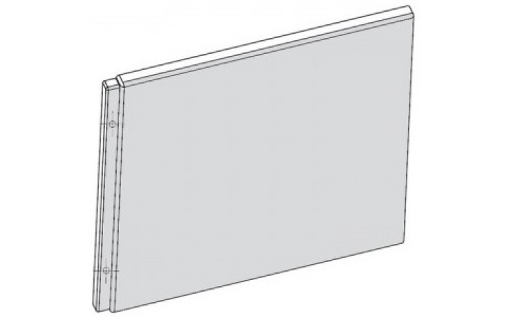 RAVAK CHROME 75 A panel boční, snowwhite CZ74130A00