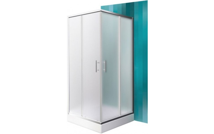 ROLTECHNIK SANIPRO ORLANDO NEO/800 sprchový kout 800x1900mm čtvercový, s posuvnými dveřmi, brillant/matt glass