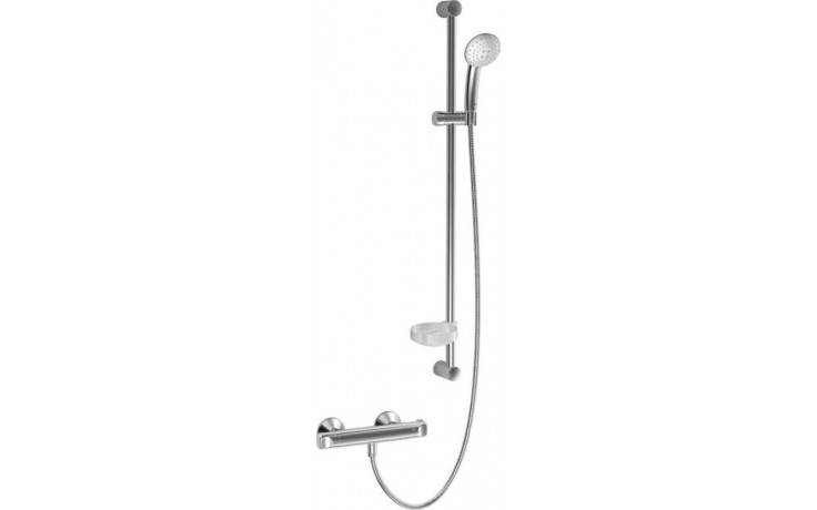 HANSA MICRA sprchová baterie DN15 termostatická nástěnná se sprchovým setem, chrom