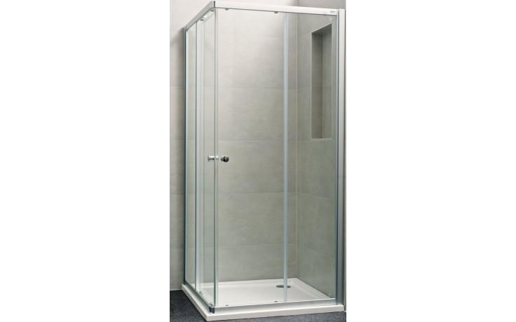 Zástěna sprchová čtverec - sklo Concept 100 NEW, posuvné dveře 2-dílné 900x900x1900 mm bílá/čiré AP