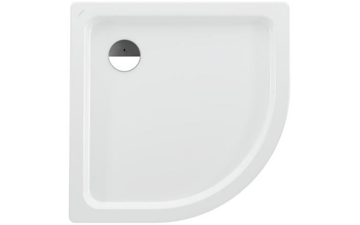 LAUFEN PLATINA sprchová vanička 900x900mm ocelová, čtvrtkruhová, s protihlukovou izolací, bílá