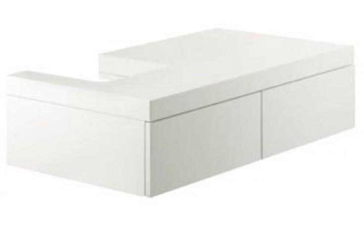 ESPRIT skříňka 800x500x180mm pod umyvadlo, závěsná, odkládací místo vpravo, bílá