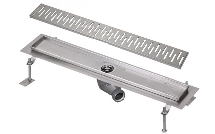 SANELA SLKN06CX koupelnový žlábek 750mm ke stěně, nerez mat