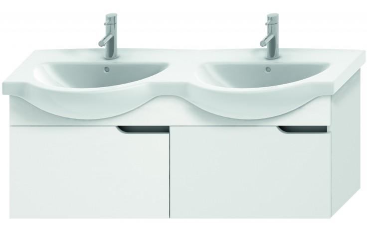 Nábytek skříňka pod umyvadlo Jika Mio new 125,6 cm bílá-bílá