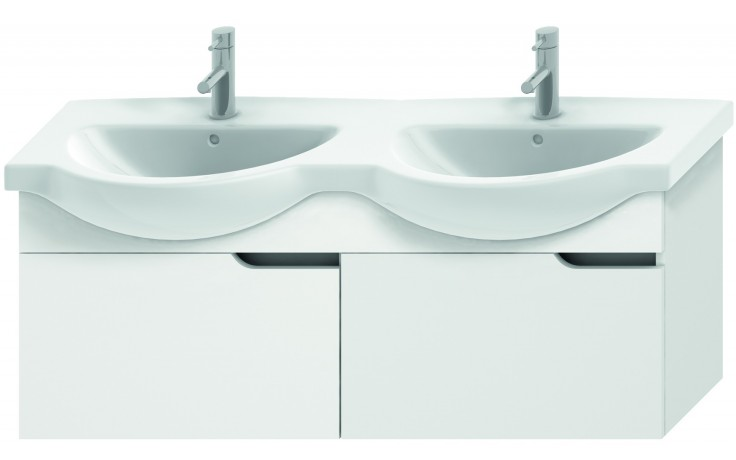 JIKA MIO umyvadlová skříňka pro nábytkové dvojumyvadlo 1256x340x505mm 2 zásuvky, bílá/bílá 4.3416.1.171.500.1