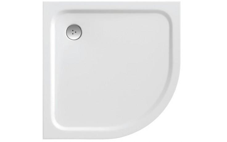 RAVAK ELIPSO PRO CHROME 80 sprchová vanička 800x800mm z litého mramoru, extra plochá, čtvrtkruhová bílá XA244401010