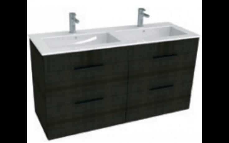 JIKA CUBE skříňka s dvojumyvadlem 1200x340x607mm, tmavý dub/tmavý dub 4.5366.2.176.302.1
