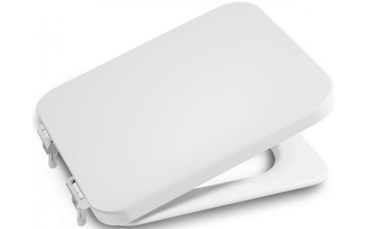 ROCA ELEMENT klozetové sedátko s poklopem, Slowclose, s antibakteriální úpravou, bílá 7801572004