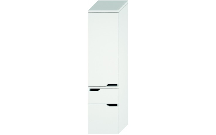 JIKA MIO vysoká skříňka 363x340mm 2 zásuvky, levá, bílá/bílá