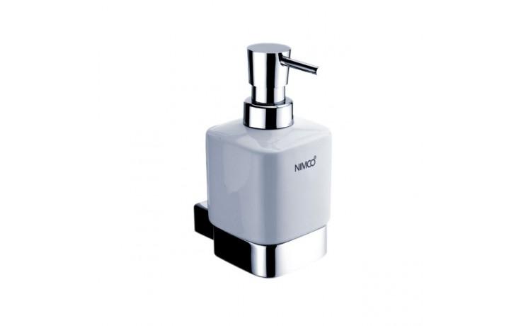 NIMCO KIBO dávkovač na tekuté mýdlo 75x110x152mm chrom/bílá KI 14031K-26