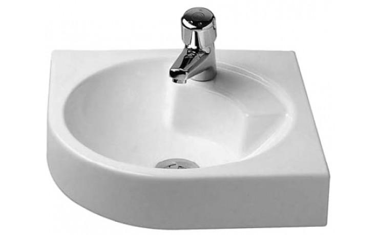 Umývátko rohové Duravit s otvorem Architec 63,5x54 cm bílá