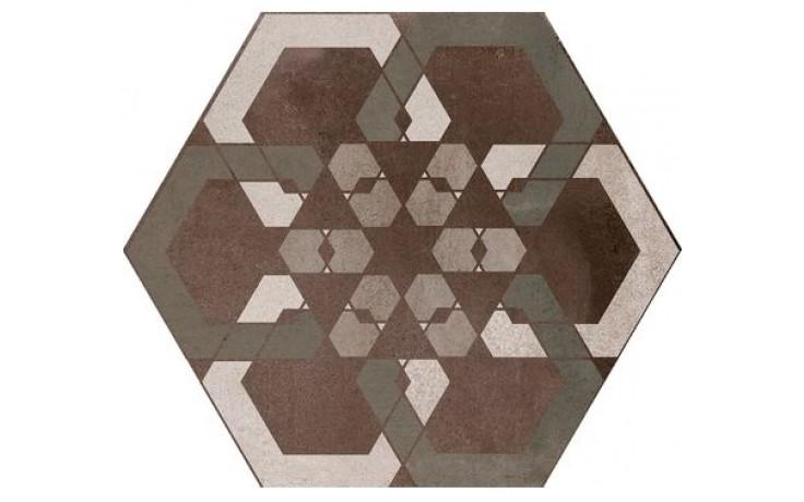 CENTURY KERAMOS dekor šestihran 20cm, esagona dark