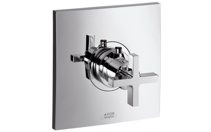 Baterie termostatická Hansgrohe - Axor Citterio podomítková,vrchní sada  chrom