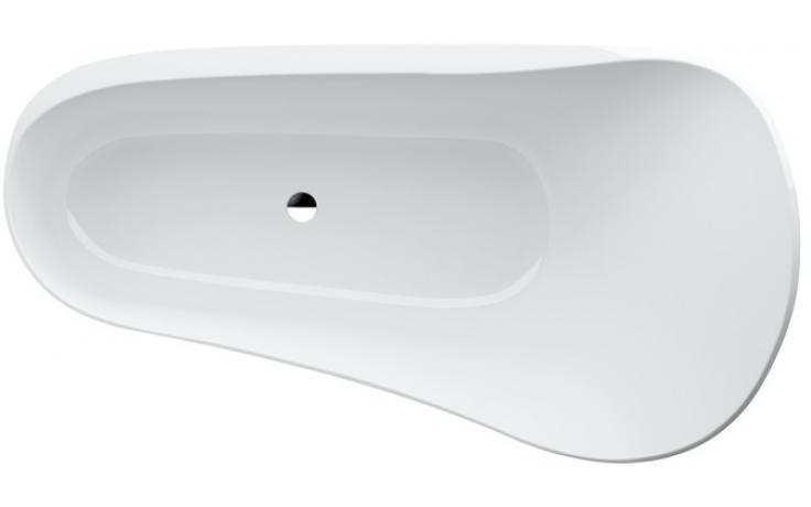 Vana plastová Laufen - Palomba volně stojící skrytý přepad včetně clic-clac 183x96 cm bílá