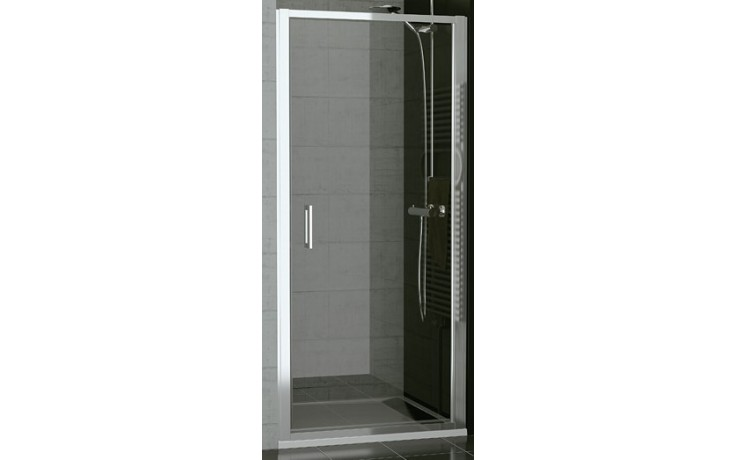 SANSWISS TOP LINE TOPP sprchové dveře 900x1900mm, jednokřídlé, aluchrom/sklo Durlux