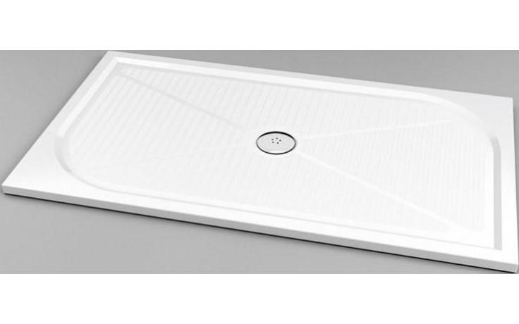 SANSWISS MARBLEMATE WMA sprchová vanička 800x1400mm, obdélníková, litý mramor, bílá