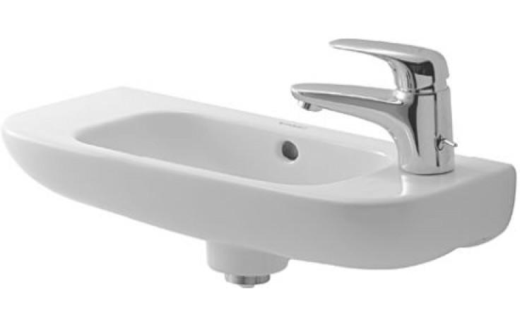Umývátko klasické Duravit s otvorem D-Code otvor vlevo 50x22 cm bílá