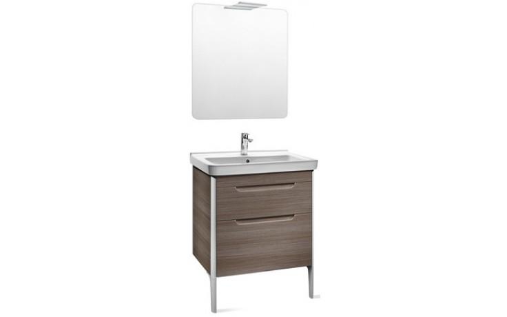 Nábytek sestava Roca Pack Dama-N skříňka s umyv.+zrcadlo s osvětlením 65 cm bílá